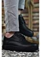 Riccon Baskılı Siyah Siyah Erkek Sneaker 0012365 Siyah